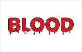 Vector word made of blood.