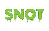 Vector word made of snot.
