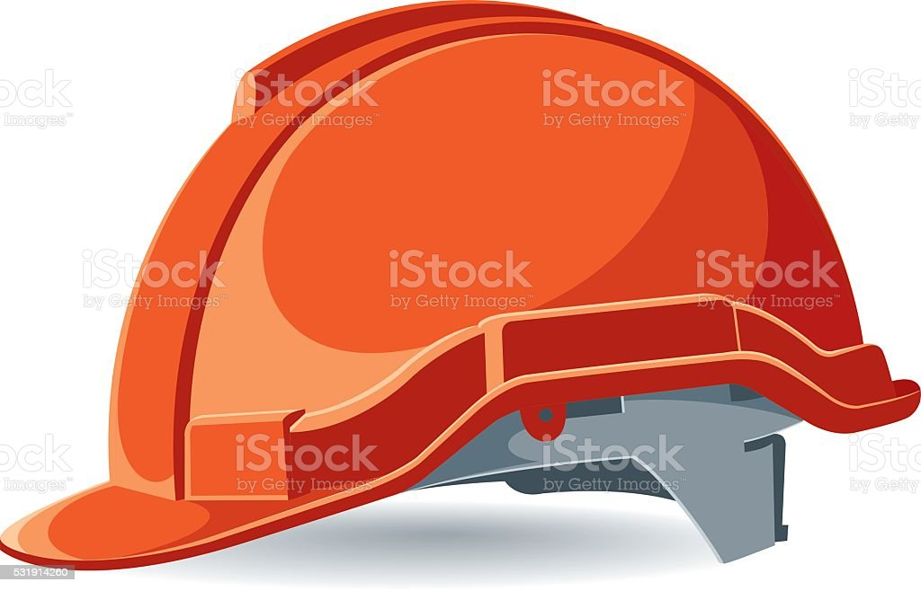 Vector worker helmet vector art illustration
