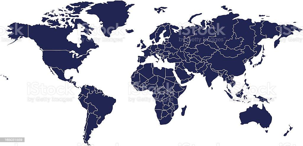 Vector World Map royalty-free stock vector art