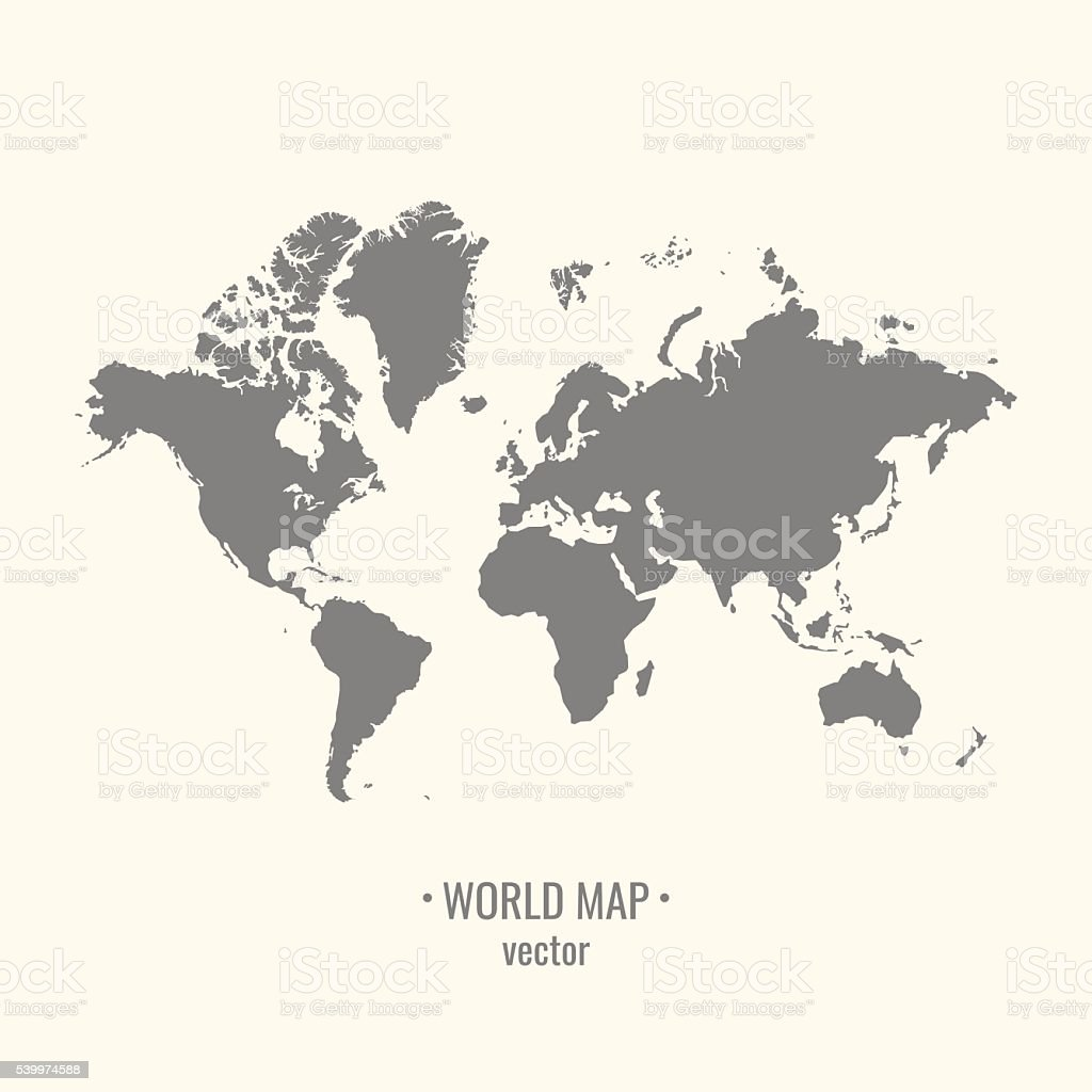 Vector World map. vector art illustration