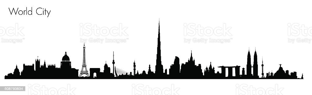 Vector World Monuments vector art illustration