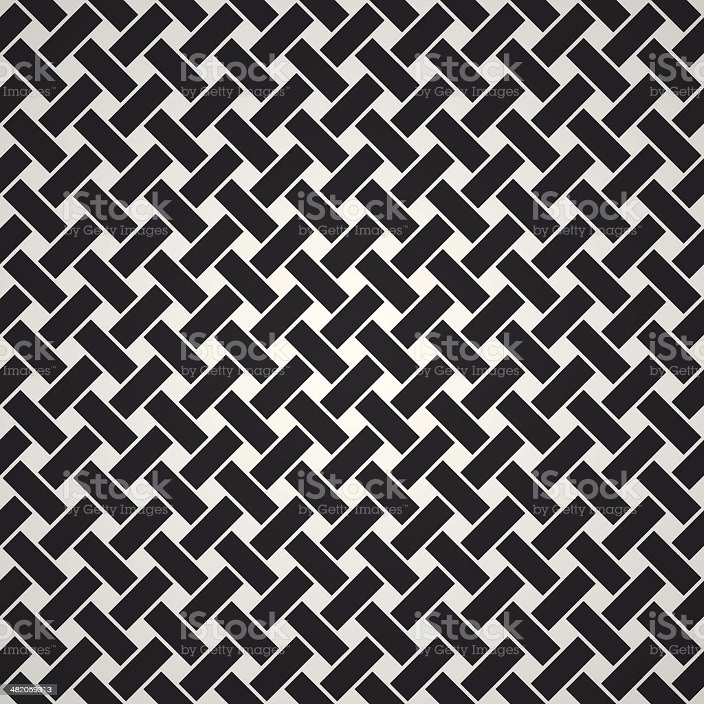 Vector woven pattern vector art illustration