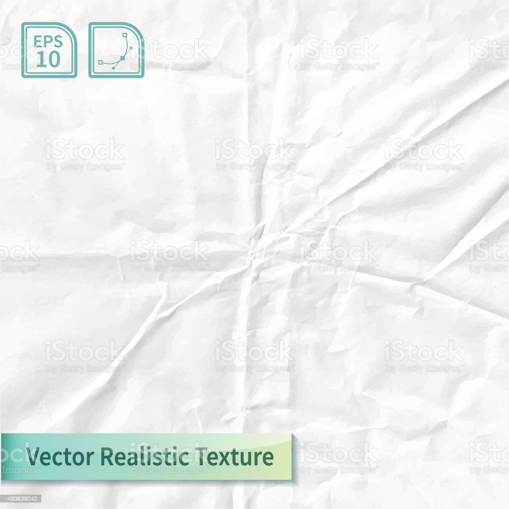 Vector wrapping paper photo texture with wrinkles for your design. vector art illustration