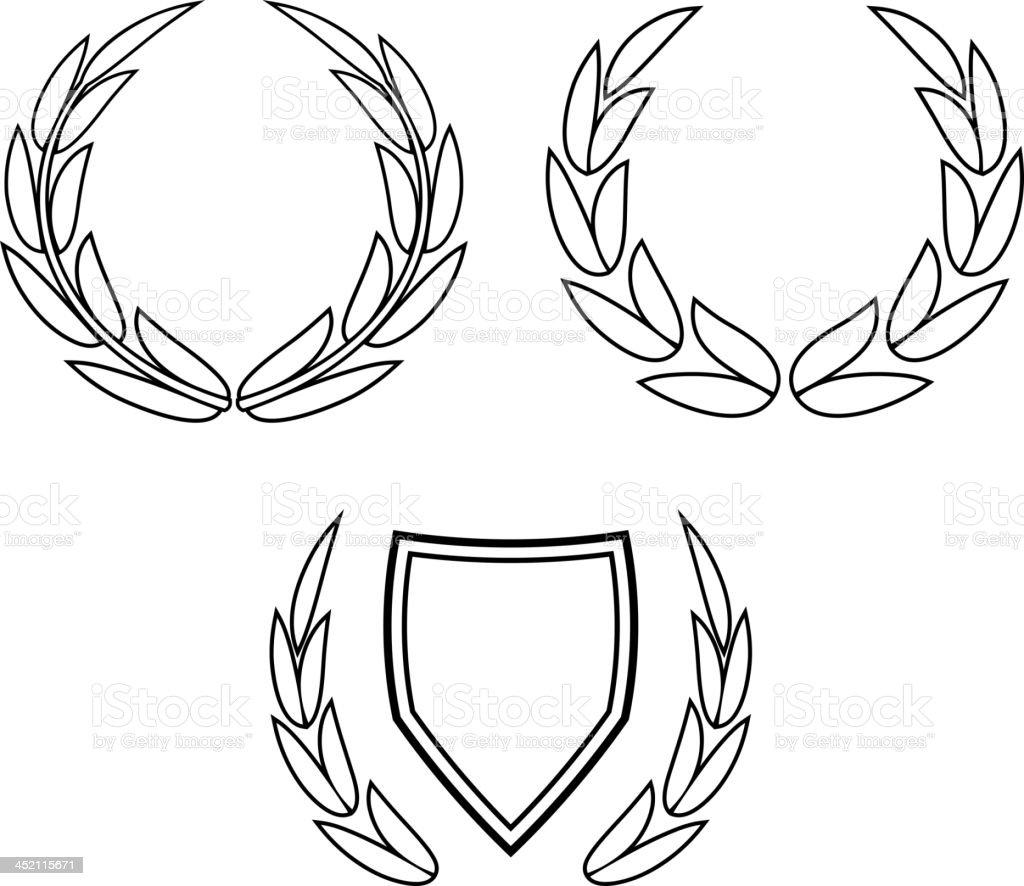 Vector wreaths royalty-free stock vector art