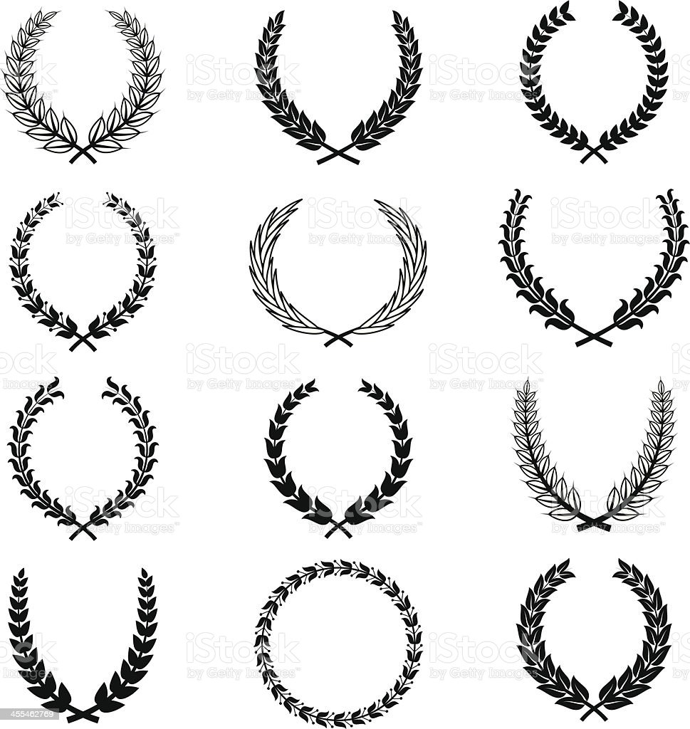 Vector Wreaths royalty-free stock vector art