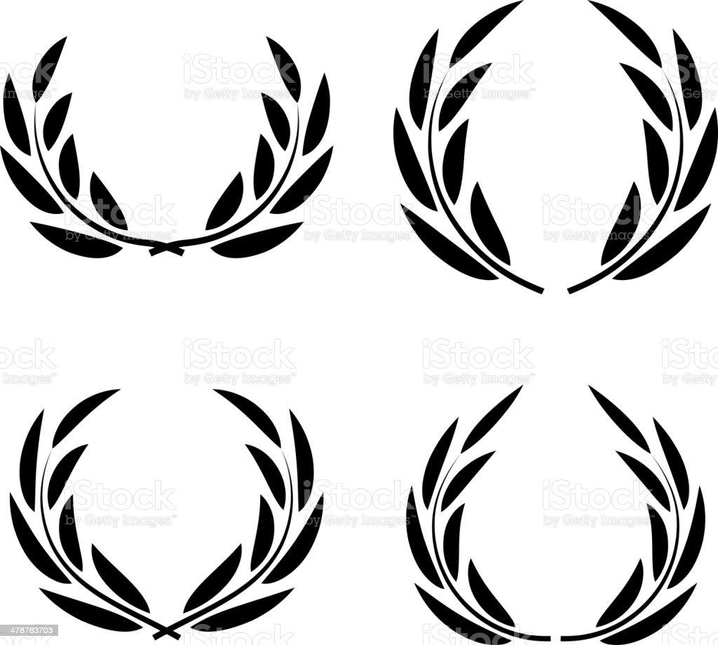 Vector wreaths vector art illustration