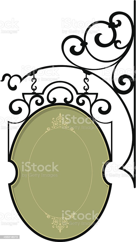 Vector Wrought Iron Sign Bracket royalty-free stock vector art