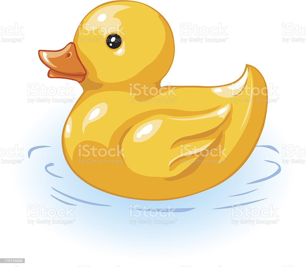 vector yellow duck for bath royalty-free stock vector art