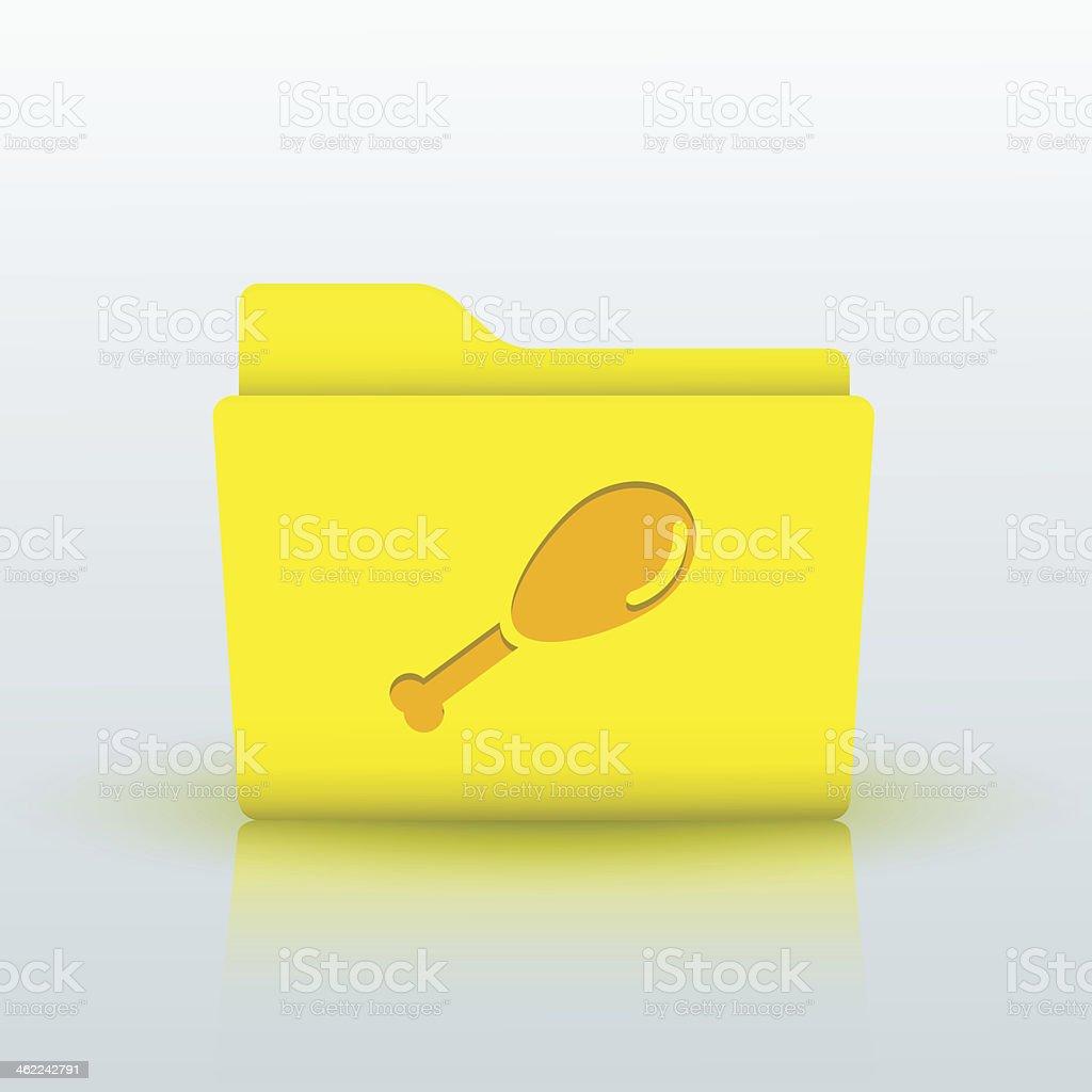 Vector yellow folder on blue background. Eps10 royalty-free stock vector art