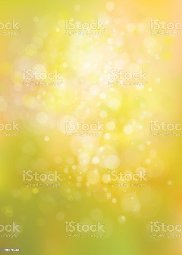 Vector yellow lights background. vector art illustration