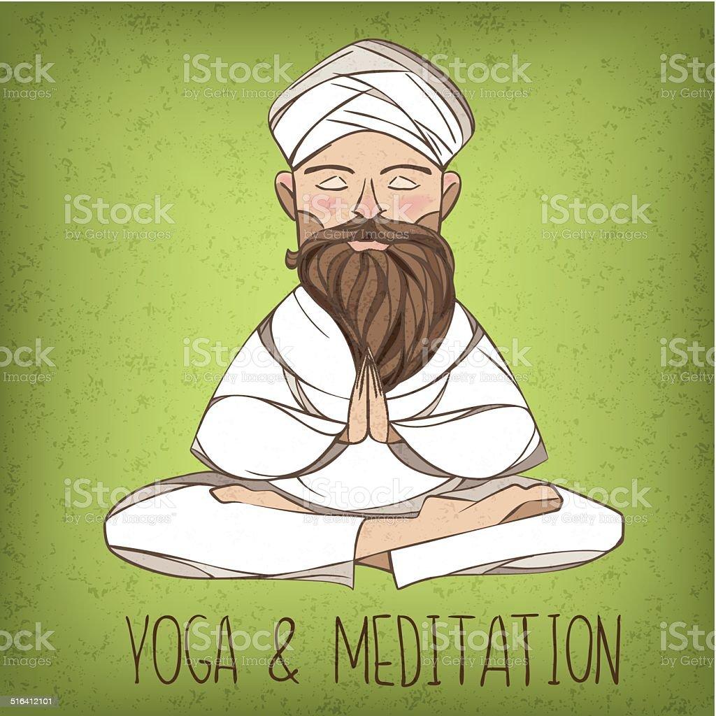 Vector yogi illustration vector art illustration