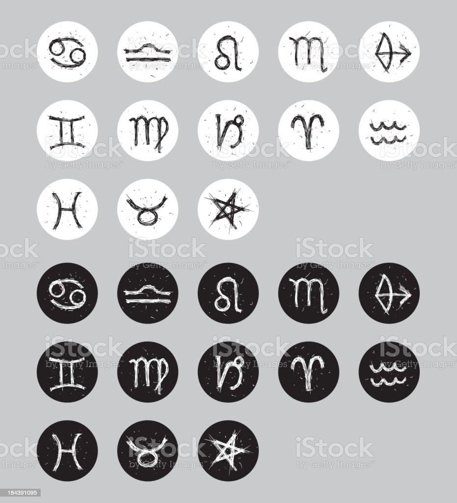 vector zodiac icon set royalty-free stock vector art