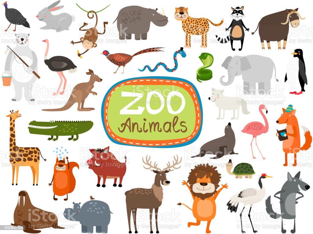 Vector Zoo Animals vector art illustration