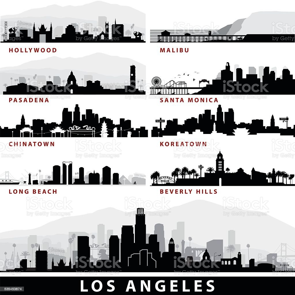 Vector_LA Cityscapes vector art illustration