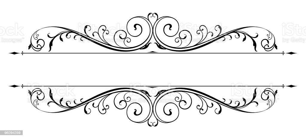 vector_scroll_accent royalty-free stock vector art