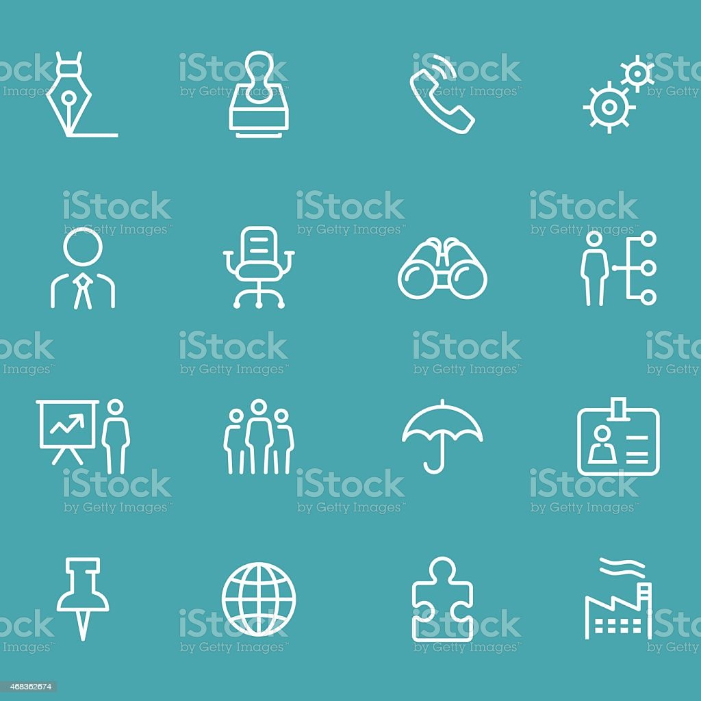 Vectorized icon set for business vector art illustration