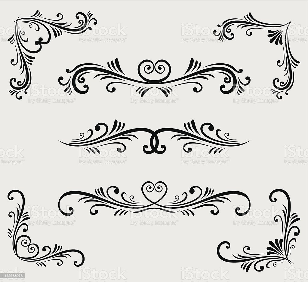 Vectorized Scroll Set royalty-free stock vector art