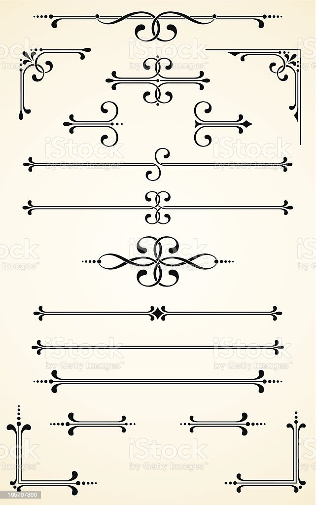 Vectorized Scroll Set vector art illustration