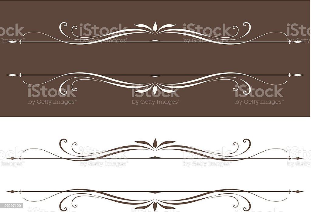 vectorized scrolls royalty-free stock vector art