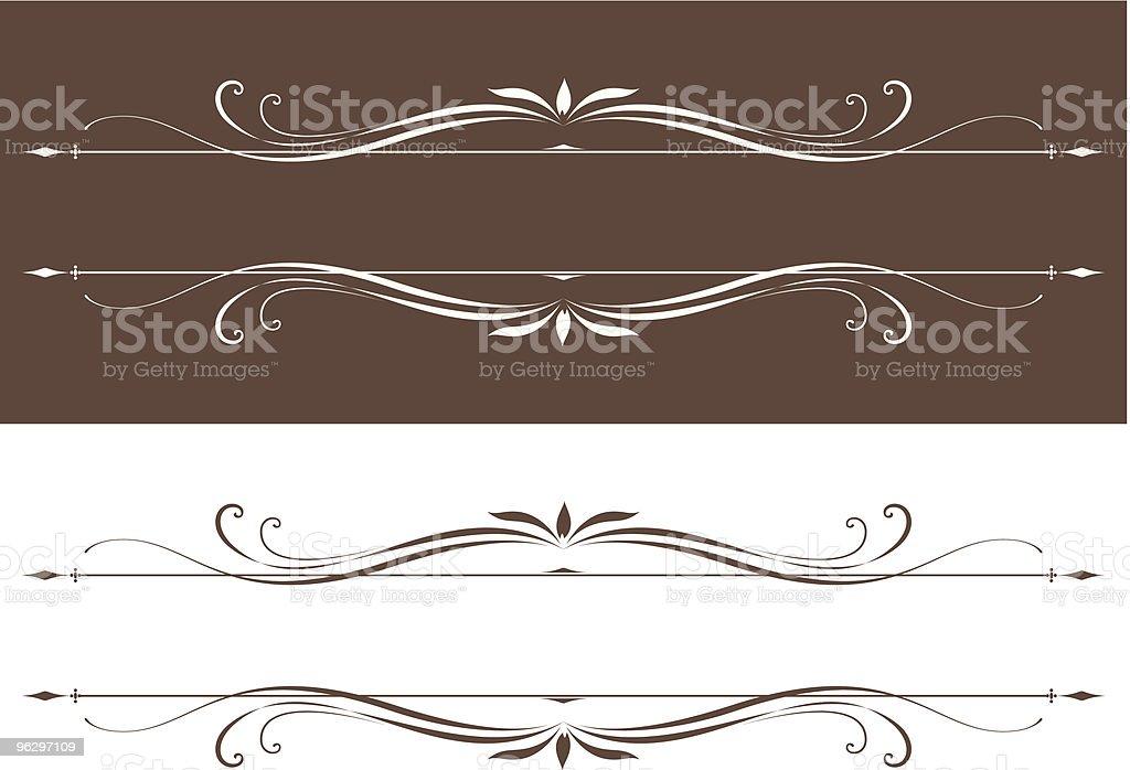 vectorized scrolls vector art illustration