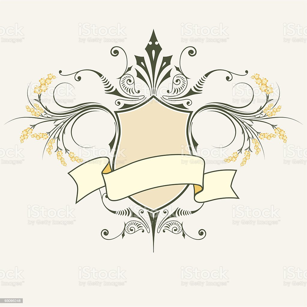 Vectror shield and banner royalty-free stock vector art