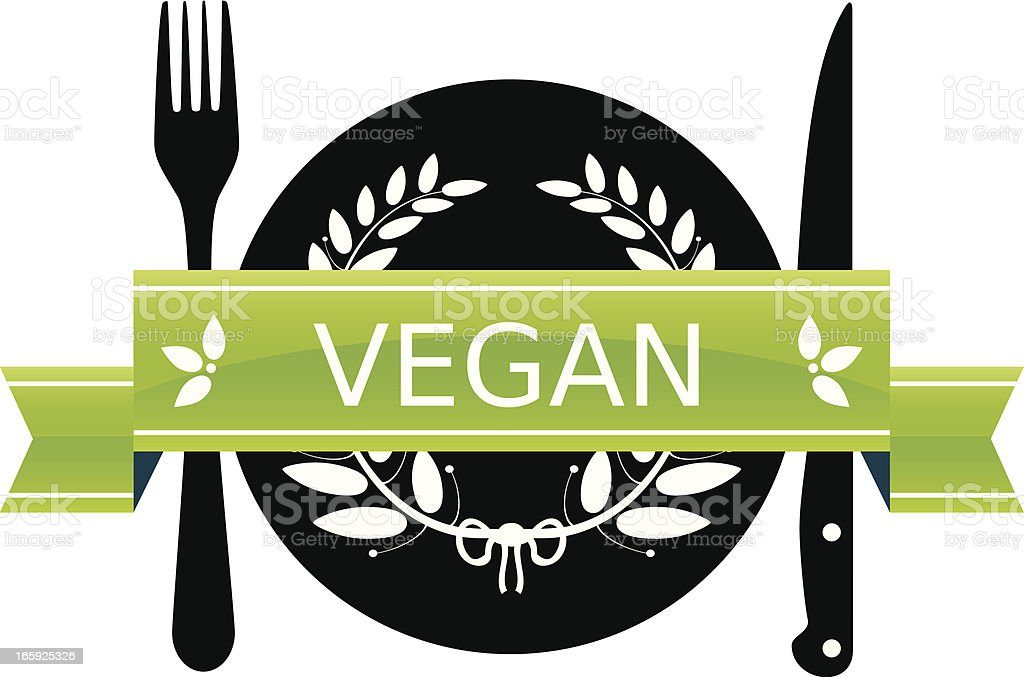 Vegan Diet vector art illustration