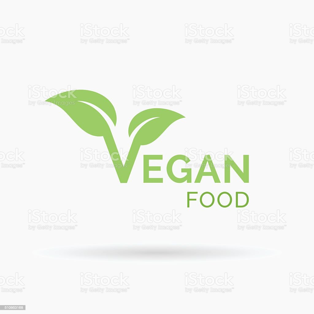 Vegan food icon design. Vector illustration. vector art illustration