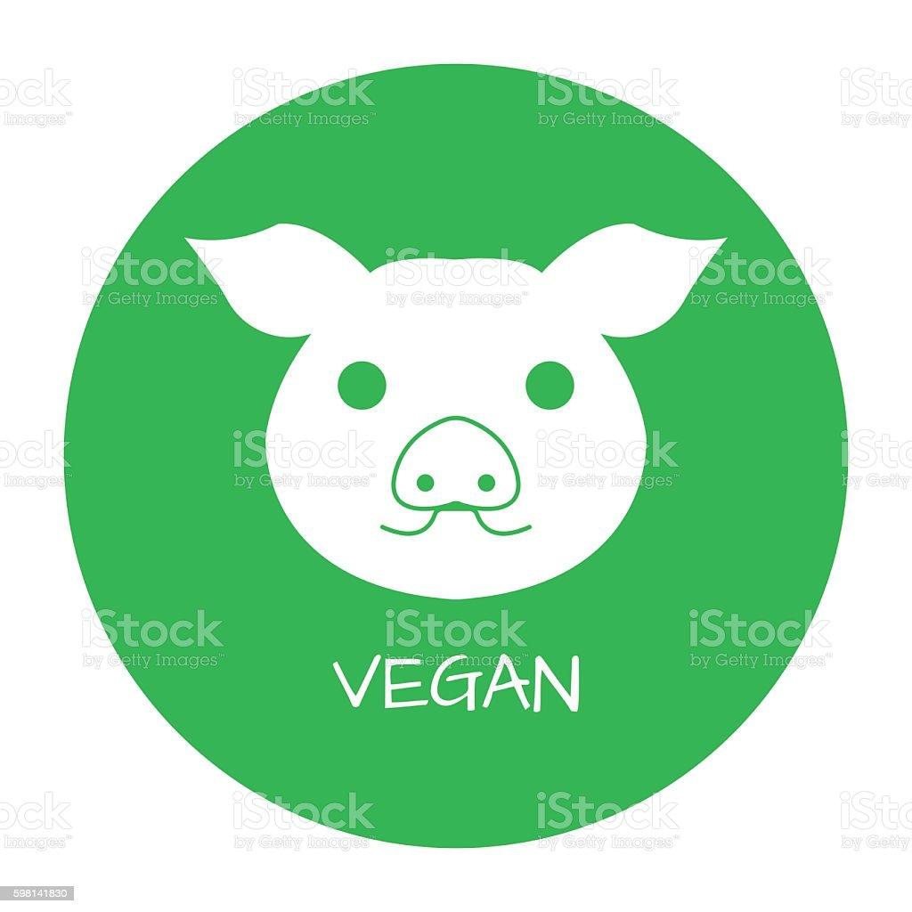 Vegan Free Label. Food intolerance symbols. Vector illustration. vector art illustration