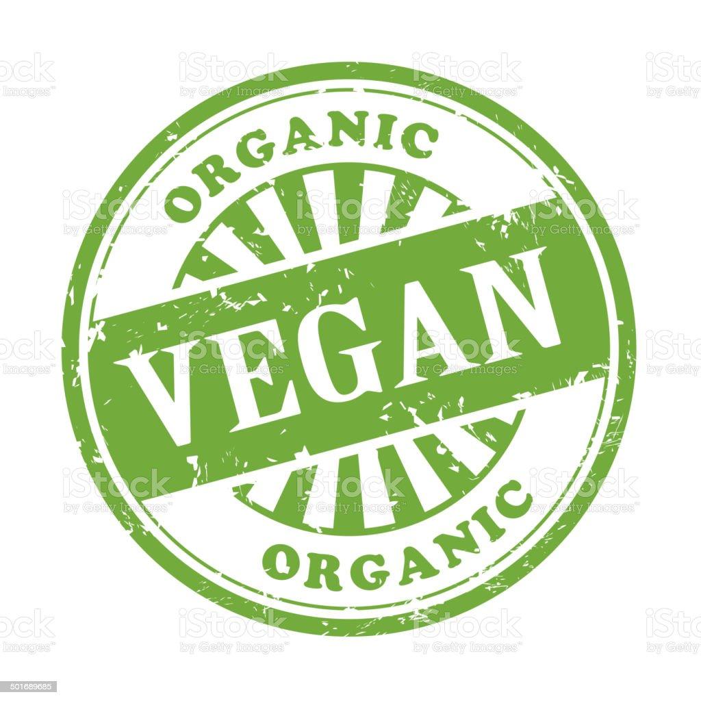 vegan grunge rubber stamp vector art illustration