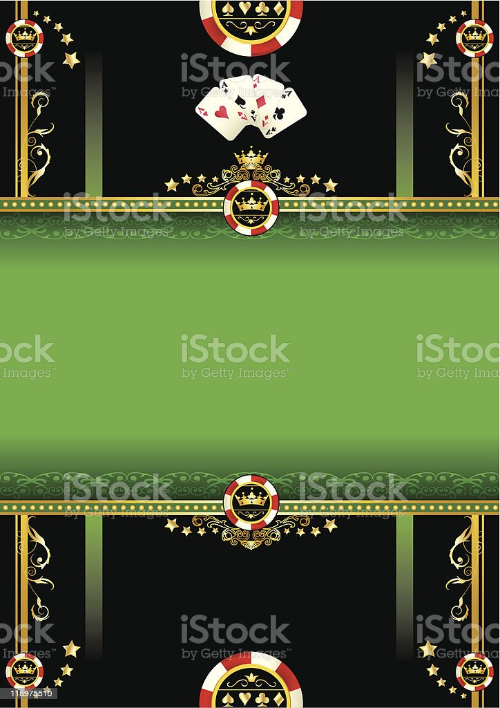Vegas background vector art illustration