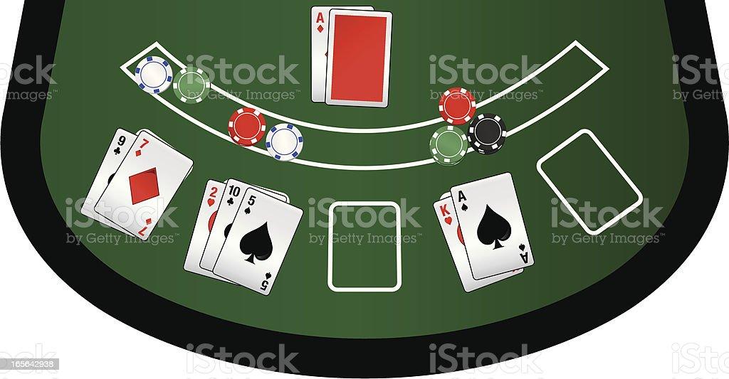 Vegas Blackjack Table royalty-free stock vector art