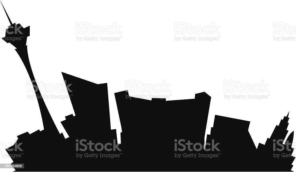 Vegas Cartoon City royalty-free stock vector art