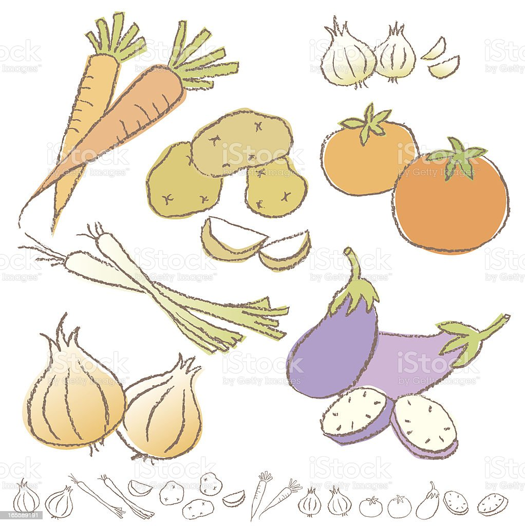 Vegetabe Collection royalty-free stock vector art