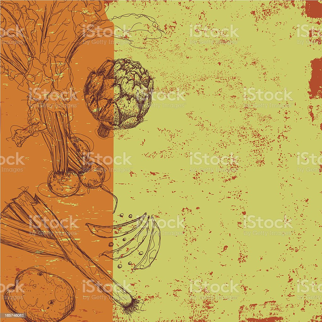 vegetable abstract vector art illustration
