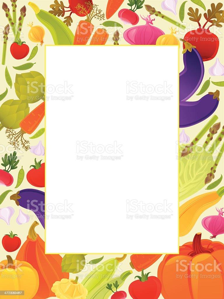 Vegetable Background royalty-free stock vector art
