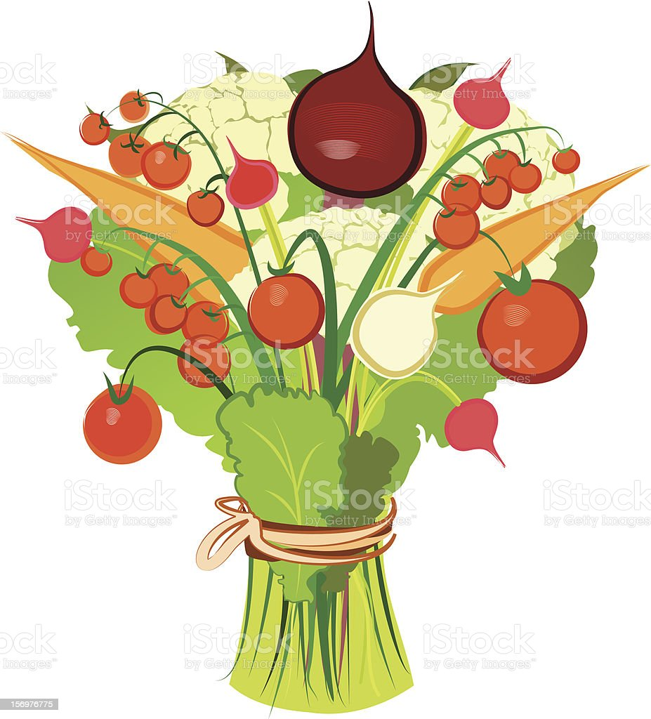 Vegetable bouquet royalty-free stock vector art