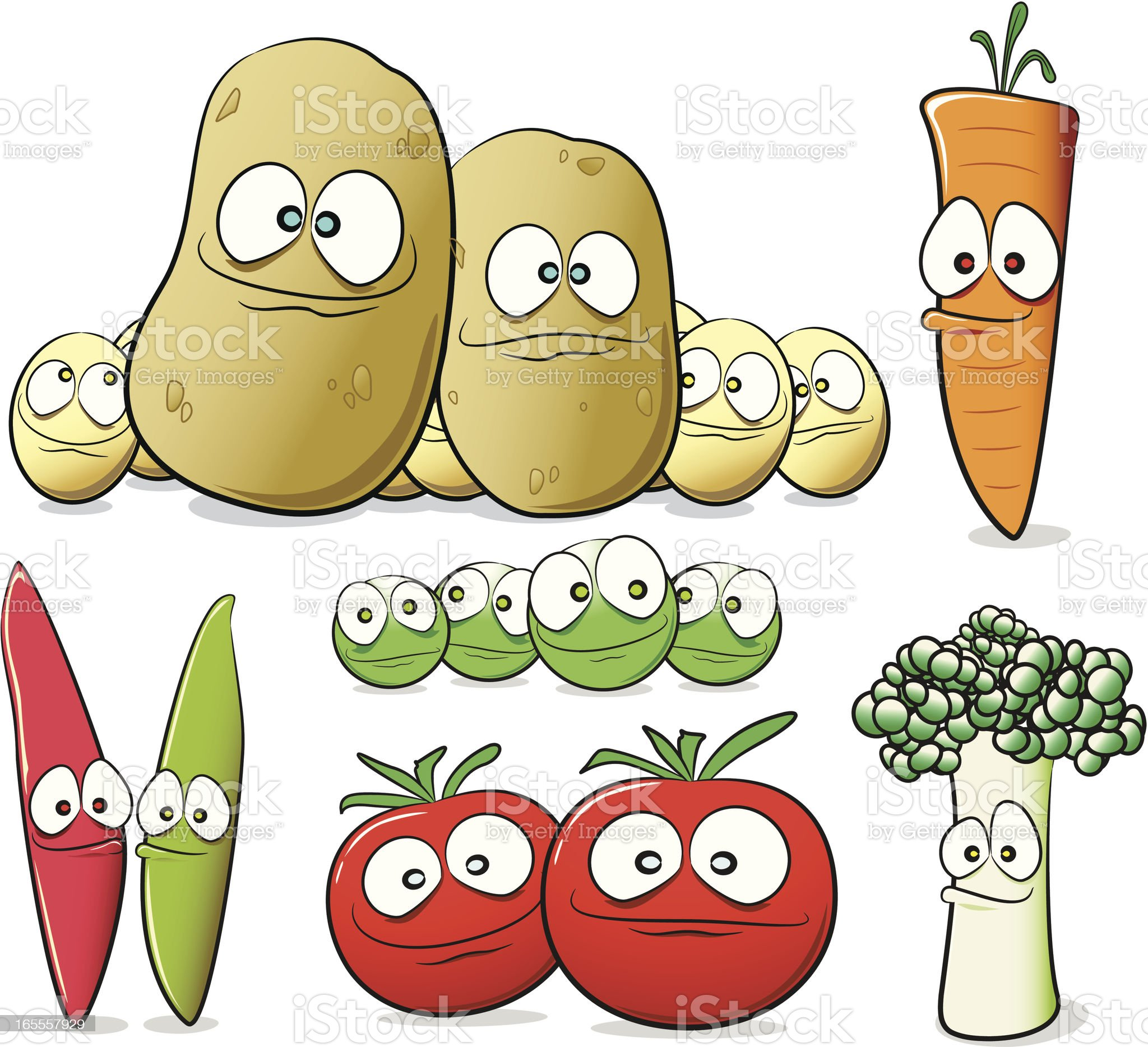 Vegetable Cartoon Collection royalty-free stock vector art