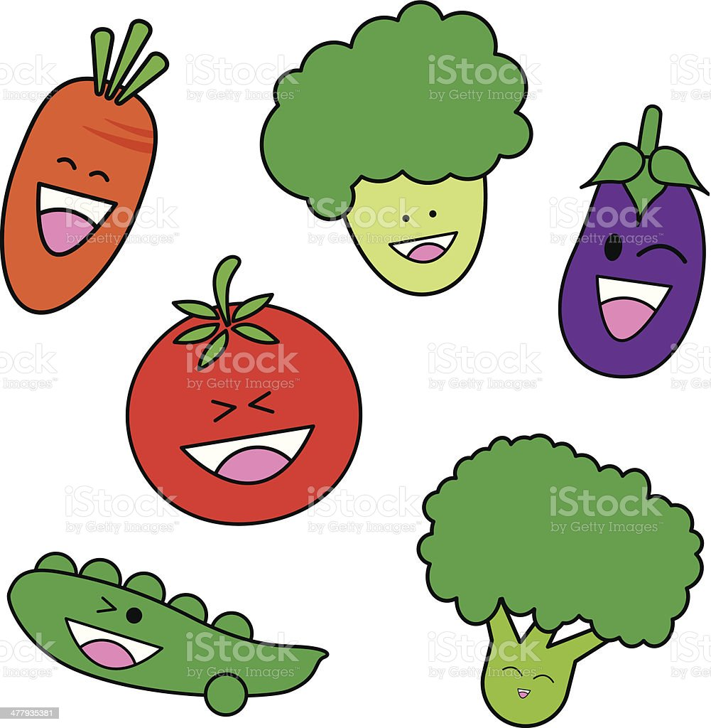 Vegetable cartoon royalty-free stock vector art