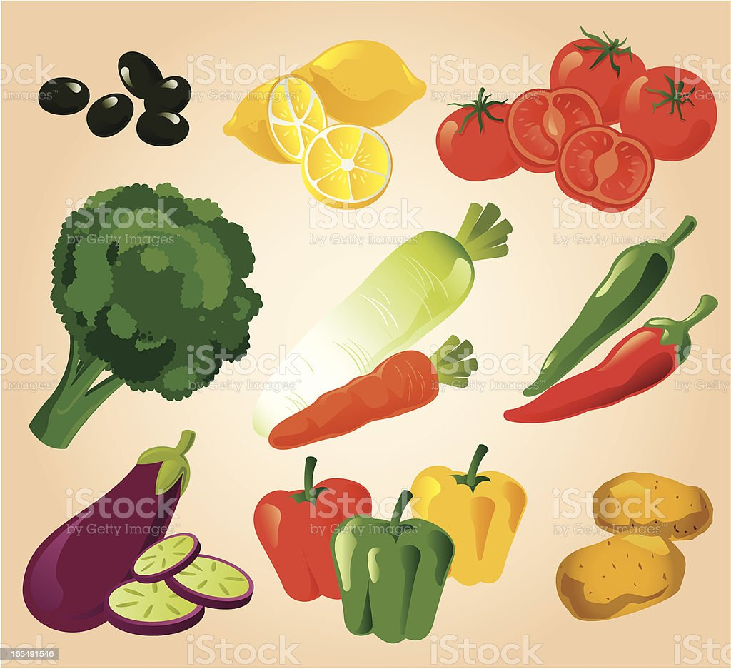Vegetable Collection royalty-free stock vector art