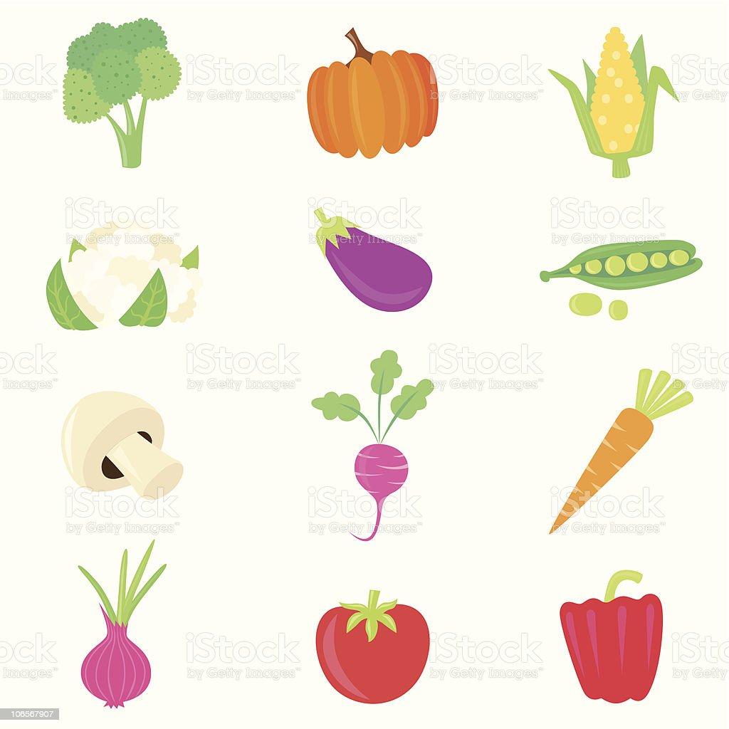 vegetable food set royalty-free stock vector art