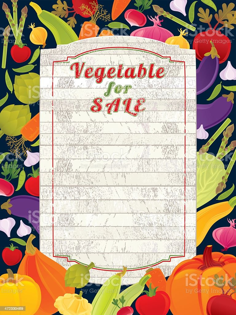 Vegetable for Sale (Banner) royalty-free stock vector art