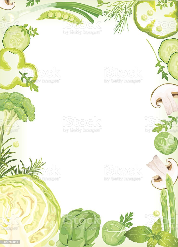 Vegetable Frame royalty-free stock vector art