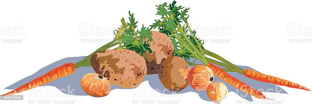 Vegetable Group royalty-free stock vector art