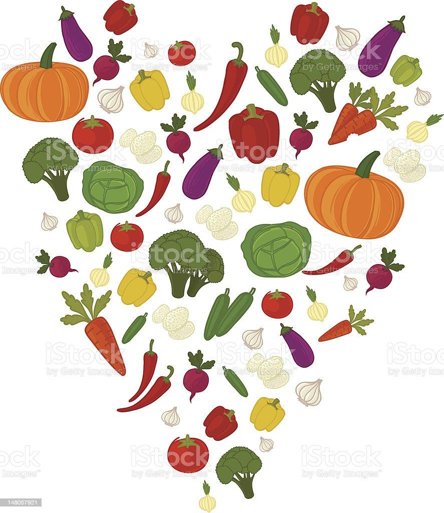 Vegetable heart royalty-free stock vector art