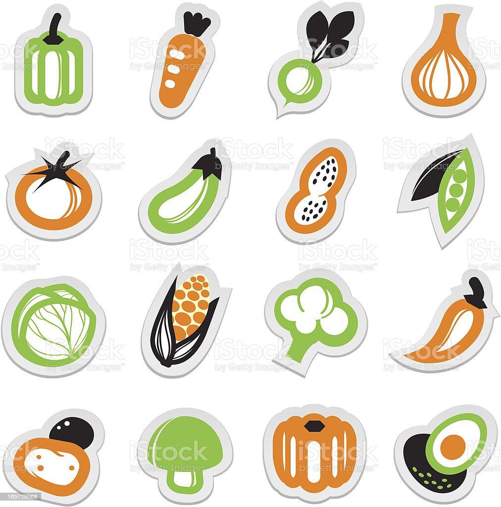 vegetable icon sticker vector art illustration