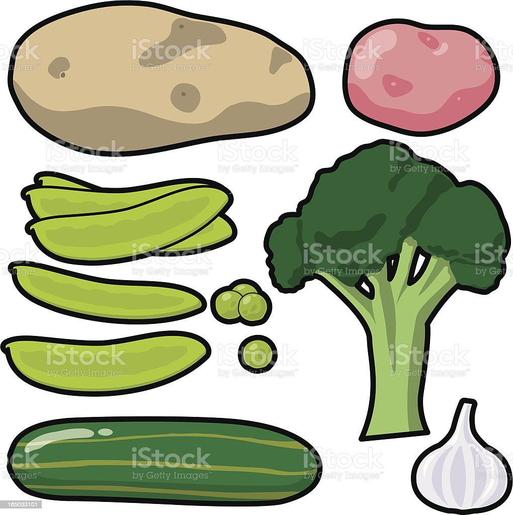 Vegetable Icons - 2 (vector) royalty-free stock vector art