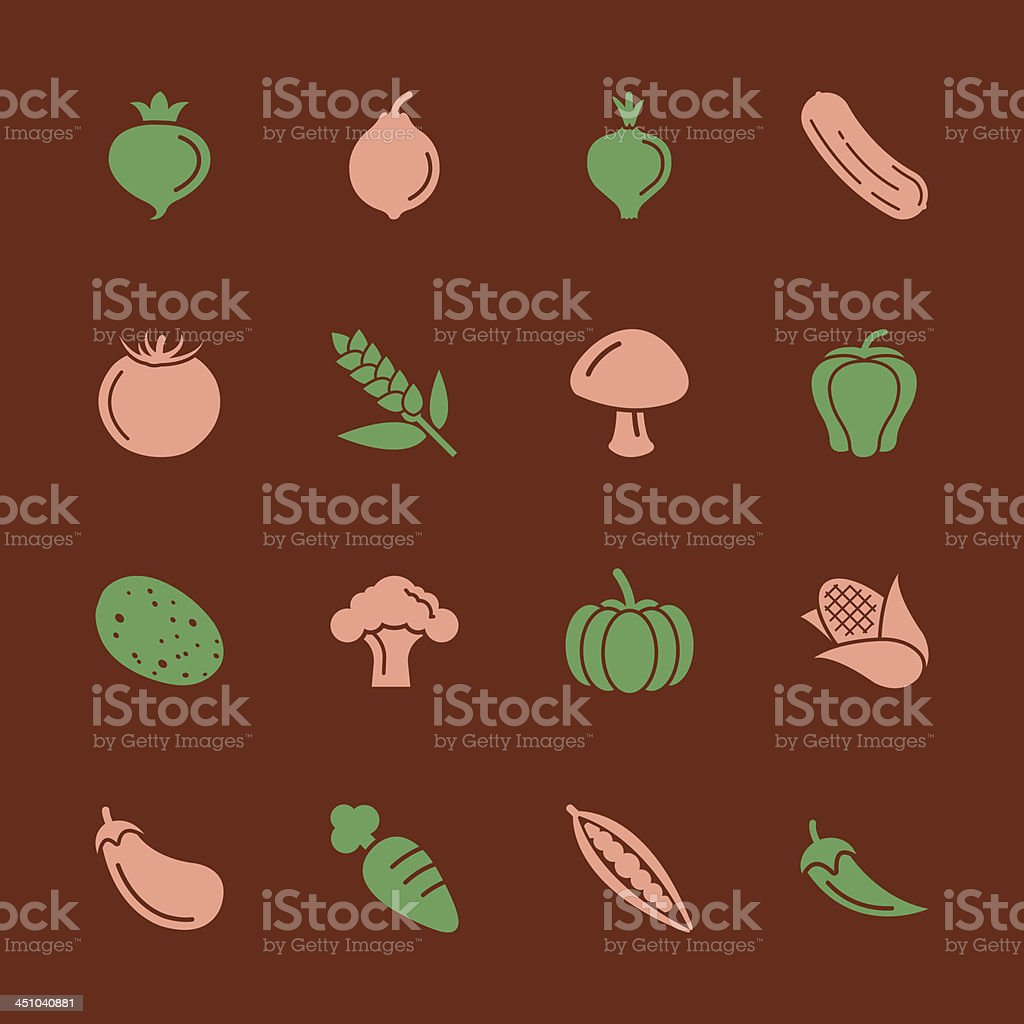 Vegetable Icons - Color Series   EPS10 royalty-free stock vector art