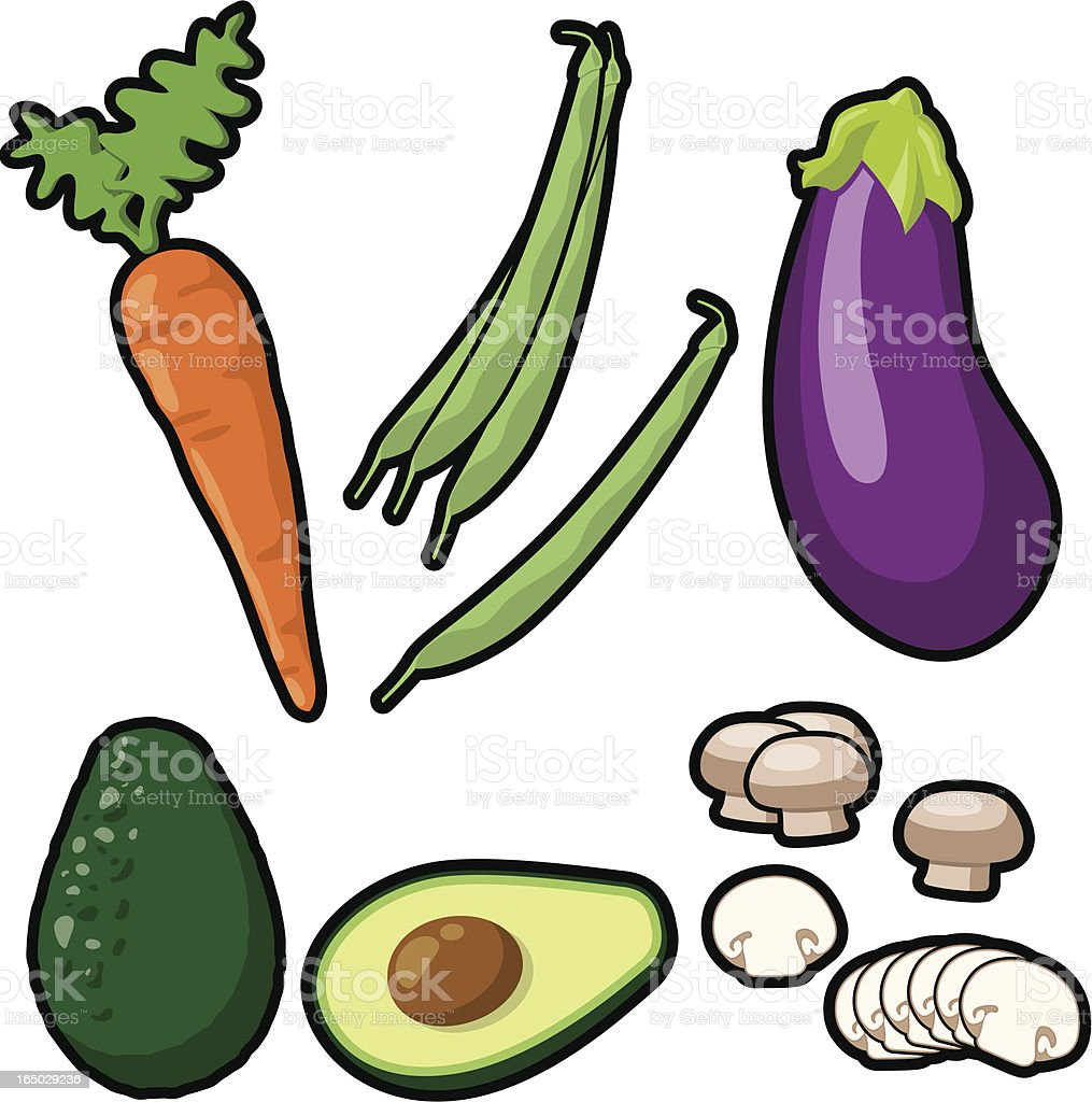 Vegetable Icons (vector) royalty-free stock vector art