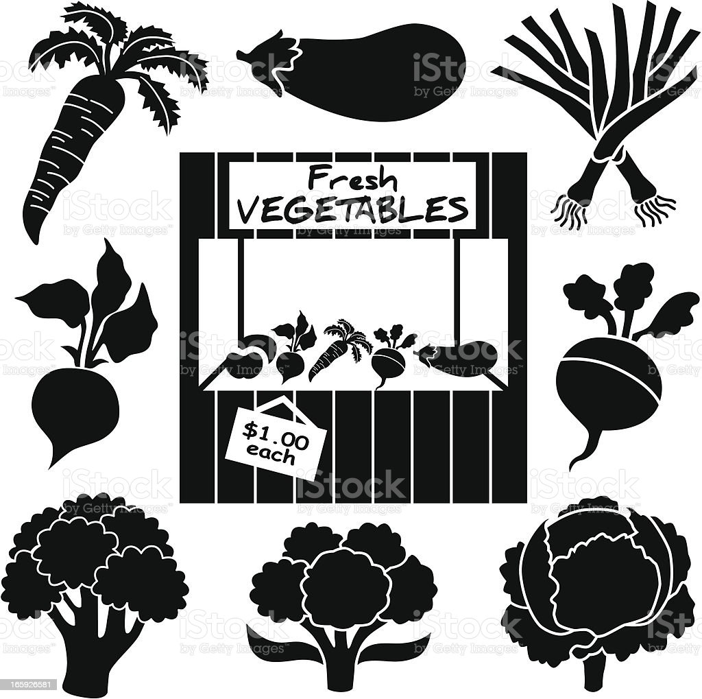 vegetable icons royalty-free stock vector art
